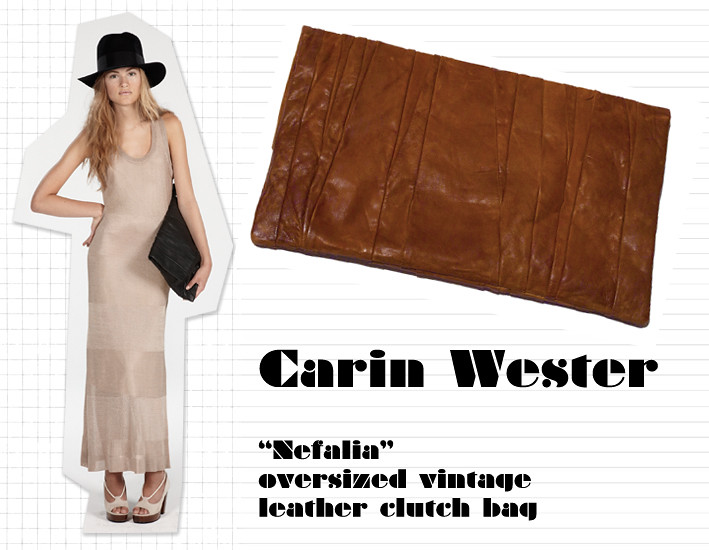 Carin Wester vintage leather clutch bag