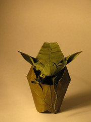 Kawahata Jedi Master Yoda (Origaminic) Tags: starwars origami yoda jedi wetfolding kawahata tantpaper