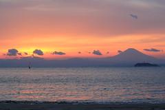 夕照ウインドサーフィン