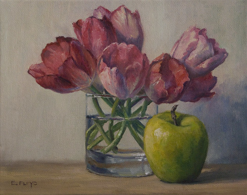 20110128 tulips and apple 8x10