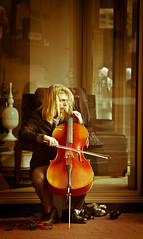 Street Cello (Orbmiser) Tags: street musician music oregon portland nikon cello performer d90 55200vr