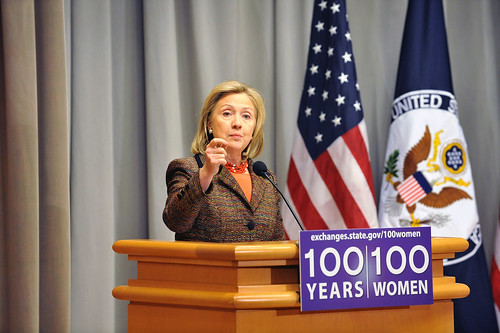 Secretary Clinton Launches the .100 Women Initiative: Empowering Women and Girls through International Exchanges.