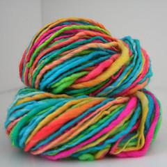 Neon Glow Handspun Yarn (Spun Right Round) Tags: wool knitting crochet yarn punta etsy fiber roving handspun handdyed fiberarts spunrightround