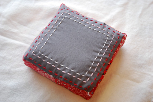 Red and Grey Pincushion
