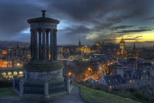 Calton Hill sunset and storm clouds March 2011