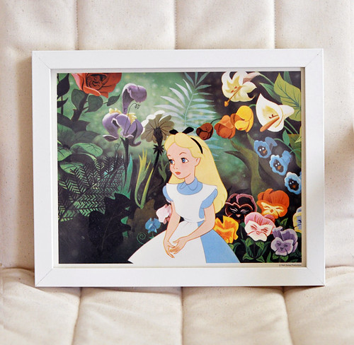 vintage alice in wonderland Disney print