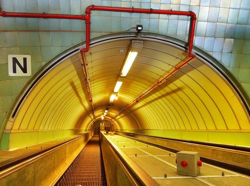 Cyclists' & pedestrians' Tyne Tunnel