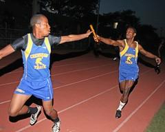 D_45854A (RobHelfman) Tags: sports losangeles track highschool handoff trackmeet crenshaw justinjohnson kalinfranklin