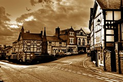 Post Card From Cheshire (Shertila Tony) Tags: england church town europe village cheshire britain postcard hdr stoswalds malpas platinumheartaward cheshirewest mygearandme towncentrehdr