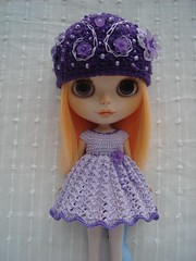 Dress in Lilac and Purple