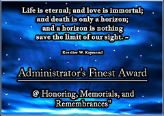 Honoring, Memorials, and Remembrances