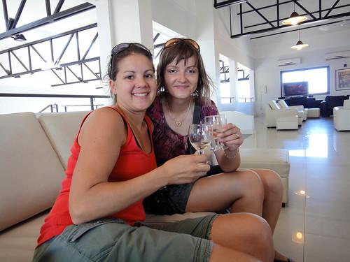 Tasting Wines at Vistandes Winery