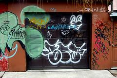 DSC_0041 v2 (collations) Tags: toronto ontario architecture graffiti documentary tags vernacular tagging laneways alleys lanes garages alleyways builtenvironment urbanfabric graffitiwalls