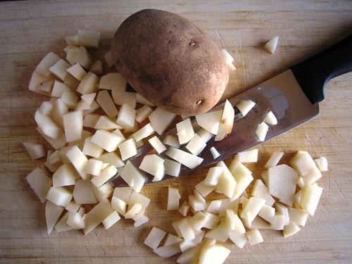 Dicing potato