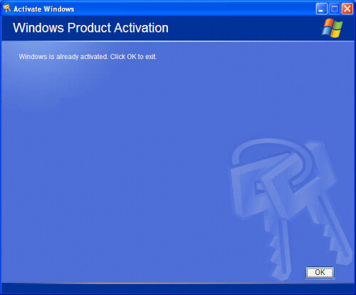Windows XP SP1, SP2 and SP3 Activator