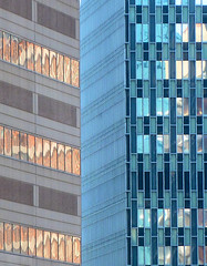 Side by Side (brooksbos) Tags: city morning light urban color glass boston reflections geotagged ma lumix photography photo newengland panasonic bostonma bostonist bay masschusetts lurvely back 02116 thatsboston brooksbos