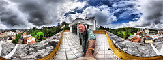 Up on the Rooftop (BongoInc) Tags: brazil portrait panorama rooftop brasil view fisheye vista 360degree saojoaodelrei 105mmfisheye redynamix
