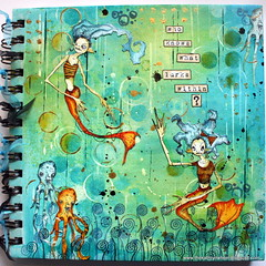Art journal - decorated cover (thekathrynwheel) Tags: artjournal journaling stampotique dylusions