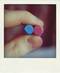 Day 96/365 (Nikita Morgendorffer) Tags: pink blue polaroid chalk flickr dof hand russia fingers pastels 365