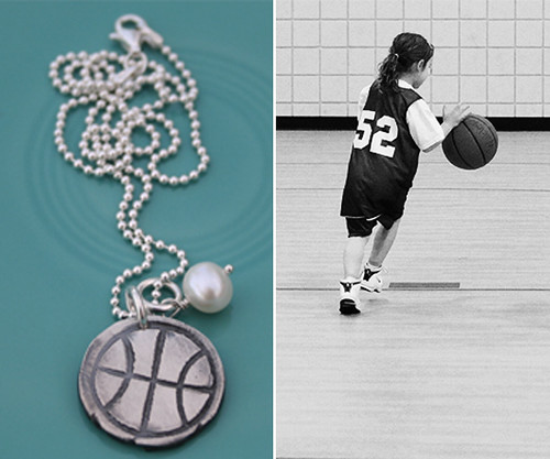 The Vintage Pearl Basketball necklace