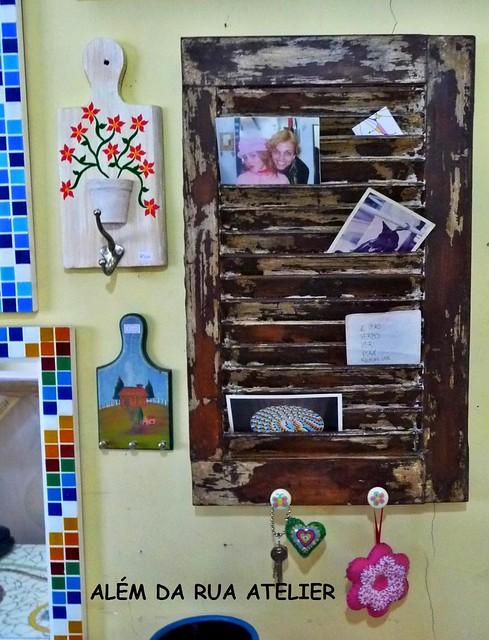 Transformando uma Persiana em porta-cartas, porta recados e porta chaves