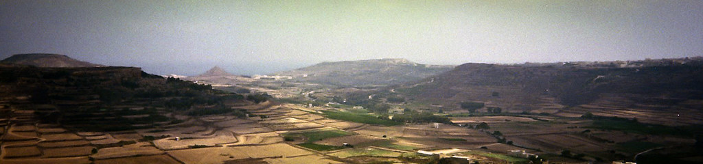 Panorama from Victoria citadel - Gozo, Malta (disposable cam)