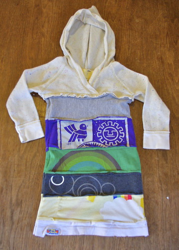 Upcycled t-shirt dress!