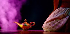 The Magic of the Lamp (Legacy55) Tags: lamp golden theater glow disneyland character magic performance disney musical actor productio
