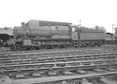 No.6857 'Tudor Grange'. Worcester shed. 13 June 1964 (ricsrailpics) Tags: uk steam 1964 460 exgwr grangeclass worcestershed