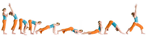 Sun Salutation Pose Sequence
