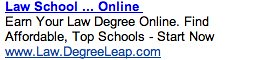 Online Law School - Ad #2