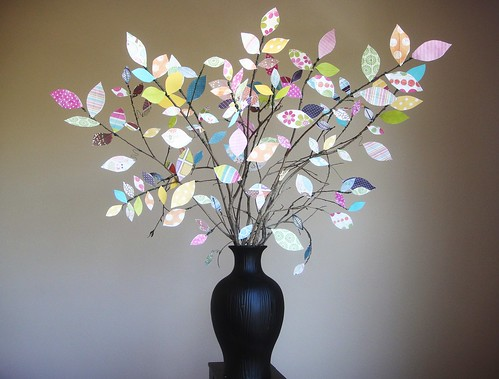 beautiful paper tree for home: scrap paper tree centerpiece tutorial