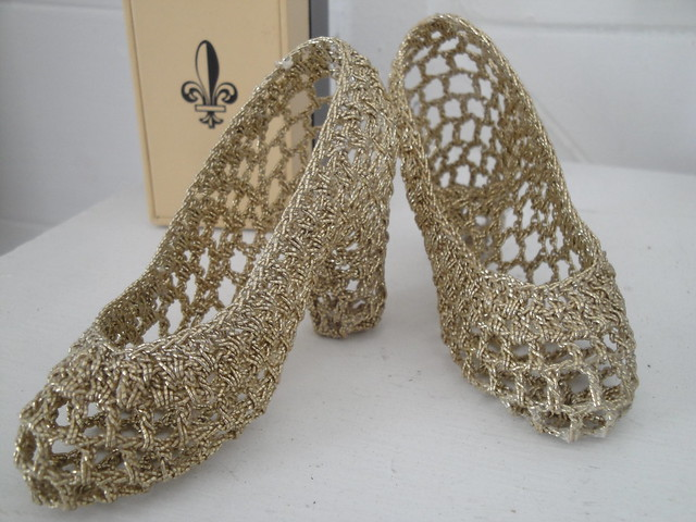 Crochetted pumps