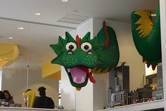 Lego Store (mynamesdustin) Tags: new york nyc ny store dragon lego display legos
