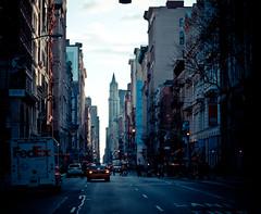 i just loved this city (pamela ross) Tags: street light sun house newyork car pen buildings lights trafficlight high olympus lane fedex ep1 17mm mft
