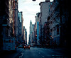 i just loved this city (pamela ross) Tags: street light sun house newyork car pen buildings lights trafficlight high olympus lane fedex ep1 17mm mft