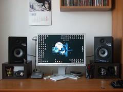 Improved workspace (BrunoN Bluthgeld) Tags: desktop pod speaker line6 stands moje alesis sennheiser biurko podstawki goniki