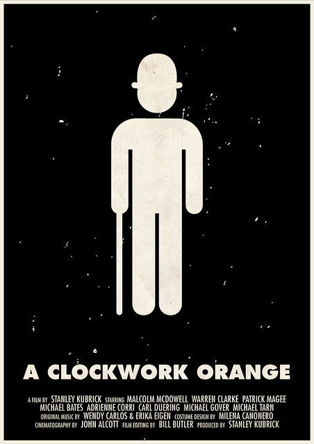 Ultra Minimal Pictographic Stanley Kubrick Movie Posters