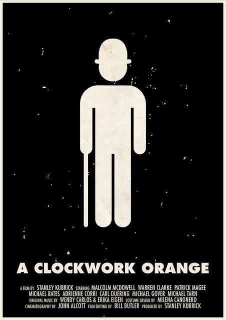 'A Clockwork Orange' pictogram movie poster