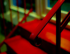 rot (redstarpictures) Tags: red rot stairs 35mm nightshot steps rail treppe handrail mir nachtaufnahme nex handlauf gueswherehamburg mcмир24h msmir24n