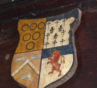 Chancel Scrfeen Armorial, St Bartholomew's Church, Vowchurch