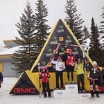 Women's Giant Slalom Podium at Nakisak GMC Canadian Championships 2011 - Britt Janyk (CAST/WMSC) 2nd
