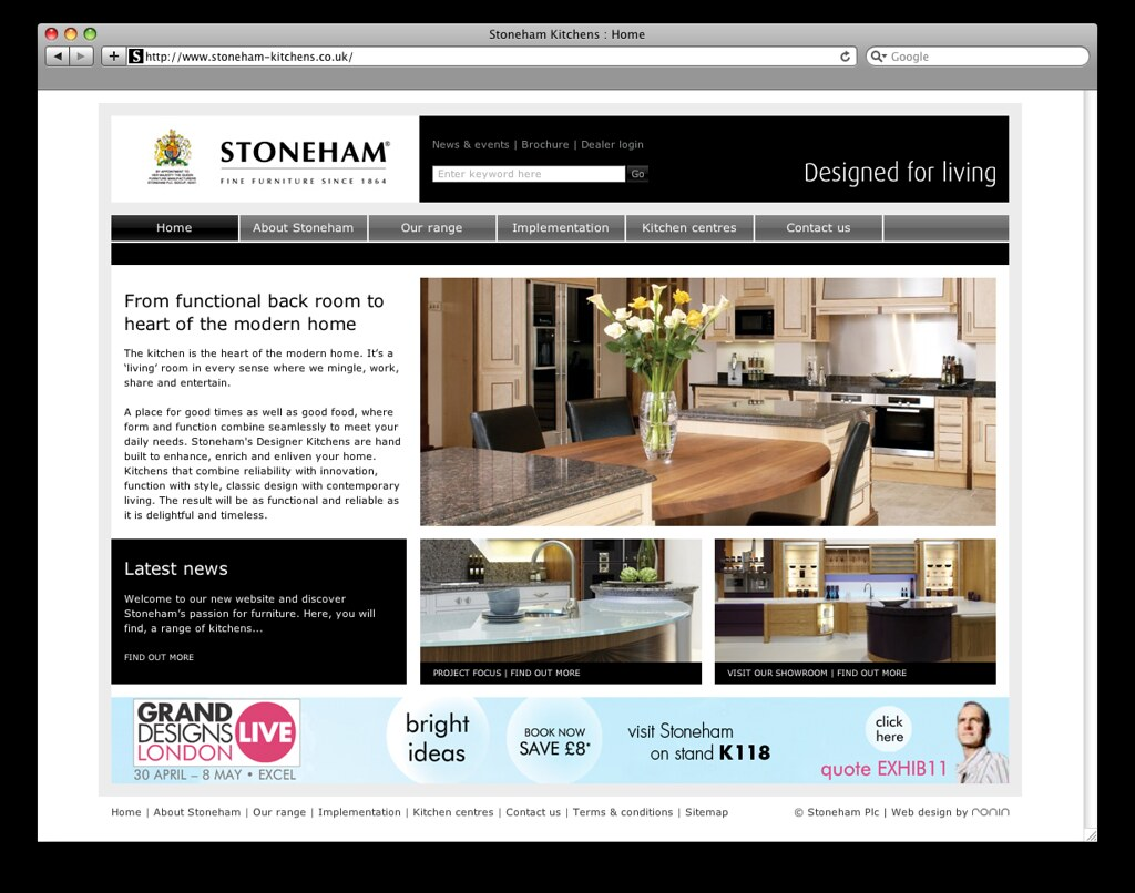 Stoneham Kitchens Website