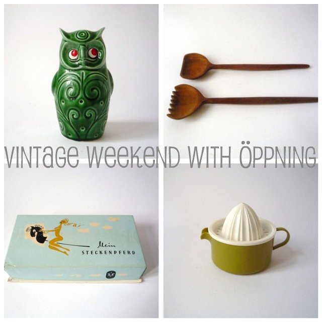 Retrofriday...with vintage goodies from öppning