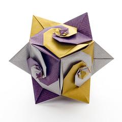 Turban Shell Cube by Toshikazu Kawasaki (Maria Sinayskaya) Tags: spiral origami modularorigami kusudama оригами кусудама toshikazukawasaki
