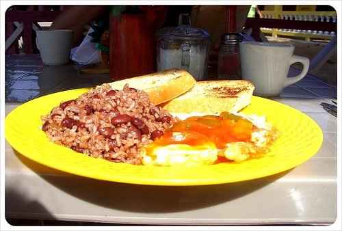 Huevos Rancheros on Little Corn Island