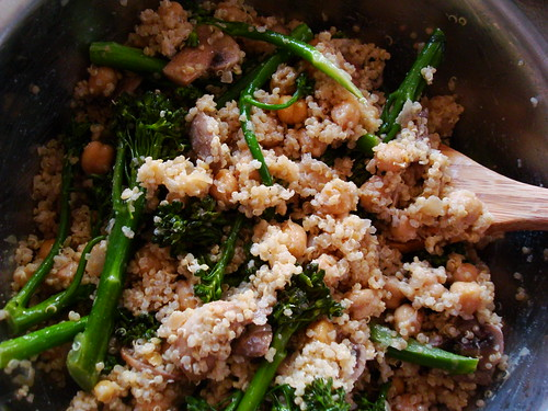 Quinoa with Broccolini, Chickpeas, and Mushrooms