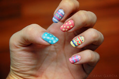 Easter Nails (ilovestrawberries (Carmi)) Tags: easter nails eggs nailart