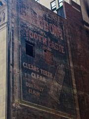 Sozodont Toothpaste, New York, NY (Robby Virus) Tags: newyorkcity newyork ny nyc city manhattan bigapple sozodont toothpaste ghost sign signage ad advertisement faded forgotten cleans teeth our only claim