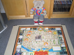 Murder! (pefkosmad) Tags: jigsaw puzzle hobby leisure pastime jacktheripper murder london whitechapel unsolved mystery victorian map 1000pieces complete new unopened legendsaroundtheworld usa lagoonpuzzles eastend prostitutes ted teddy bear cute stuffed soft toy plush fluffy tedricstudmuffin